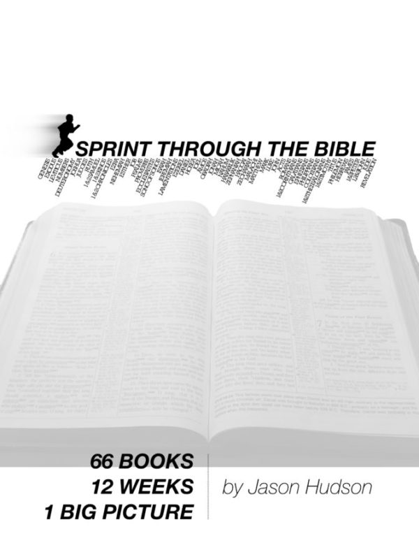 Sprint Through the Bible black-and-white Cover on digbiblestudy.com